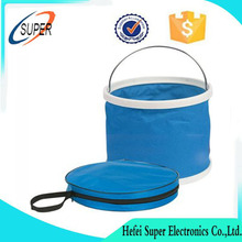 Plastic water fishing pvc rubber folding bucket collapsible with lid