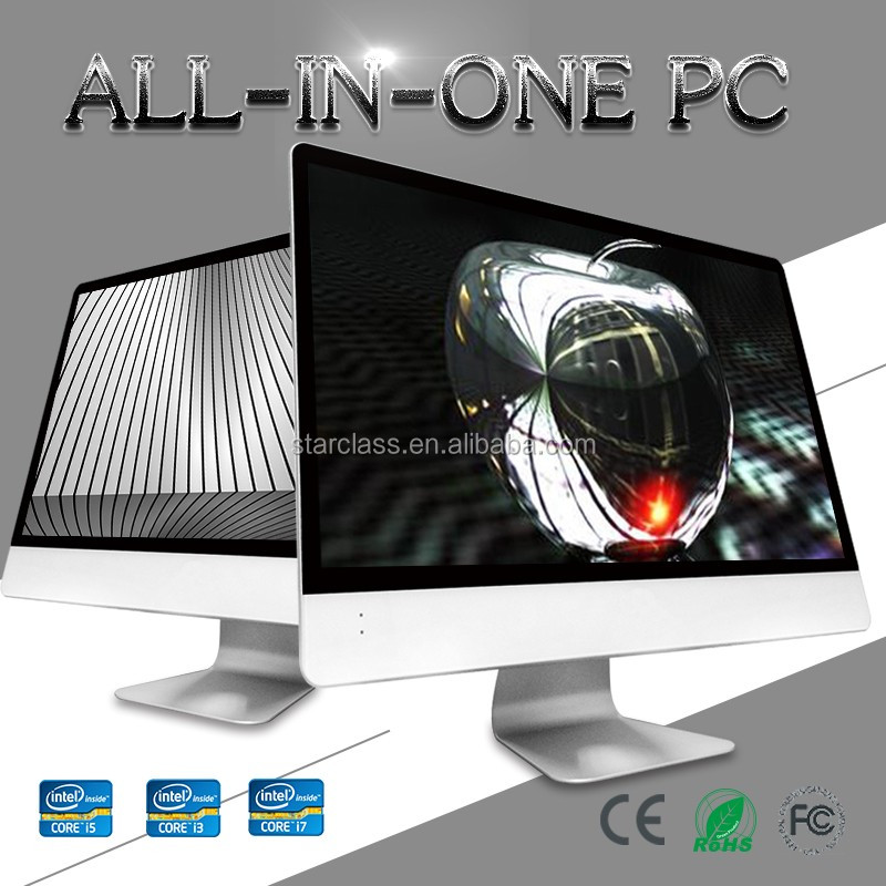 Personal used all in one pcs gaming desktop computer with wireless keyboard