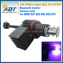 Auto Parts LED Headlight Muti-color 20W Canbus For BMW E92 Wifi Control RGB Angel Eyes E60 5 Series X5 X6