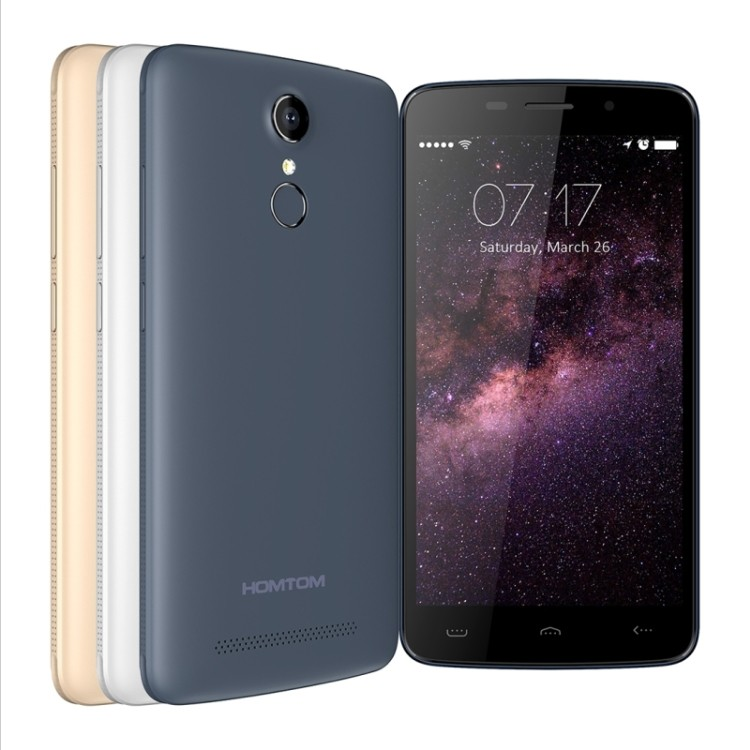 Original HOMTOM HT17 Low Price 5.5 Inch Fingerprint Dual SIM Card 4G lte Android 6.0 Smart Mobile Phone sale in september
