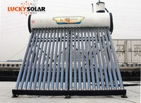 Pre-heated pressure bearing type water solar heater with coopper coils in water tank