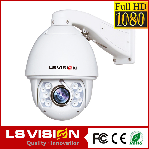 LS VISION network ir ip camera pan tilt zoom motion detection waterproof camera network mini speed dome ptz camera