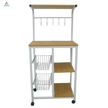Kitchen Wooden Storage Shelf Microwave Oven Stands Wholesale