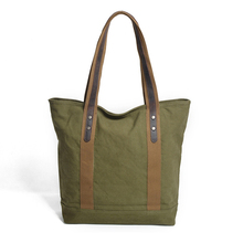 Woman Classic Burlap Jute Hemp Tote Bag