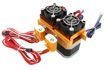 Mk8 12v Dual Head Nozzle Extruder Double Print Head Structure 3D Printer With 1.75mm metal cable supplies