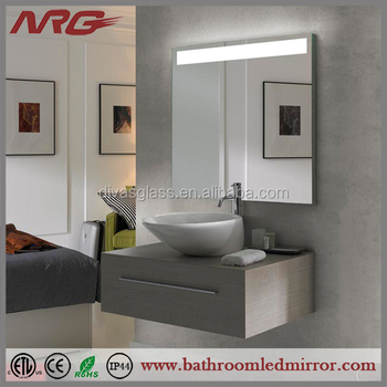 Classic Bathroom Mirror With Shelf And Light