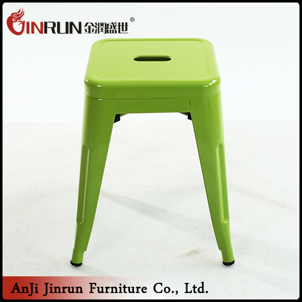 Directly factory industrial green metal high bar stools with discount price