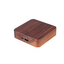 Portable wood housing mobile cell phone mini power supply 10400mah power bank