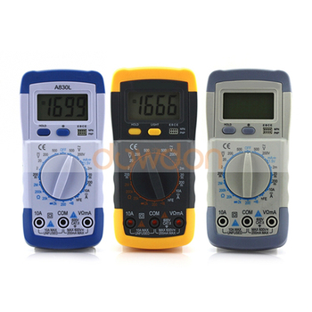DMM Digital Multimeter A830L Ammeter Multitester Voltmeter Ohmmeter Current Tester with LCD Backlight
