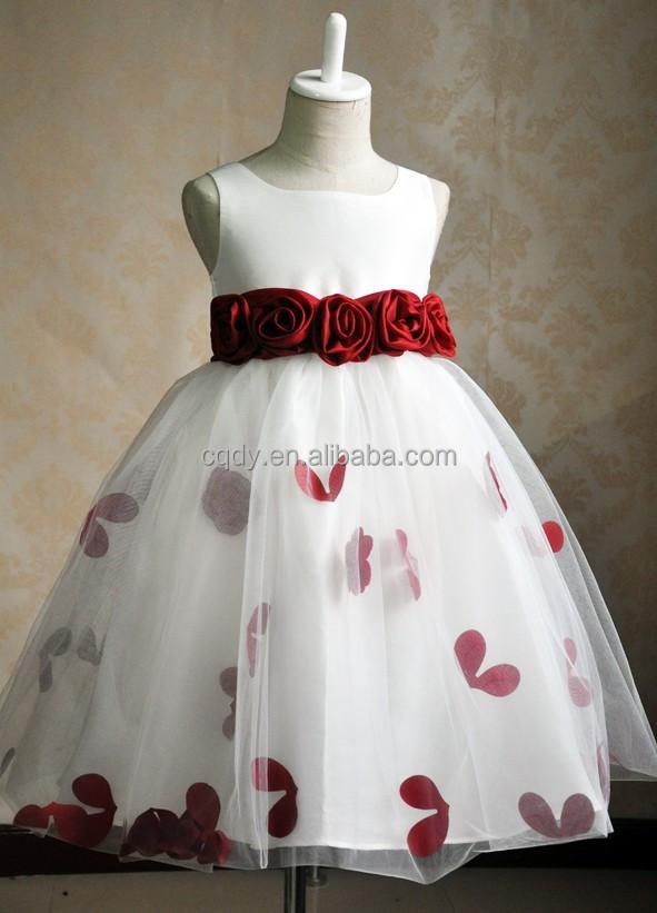 2015 Popular Design Girls Prom Dress Kids Princess Wedding