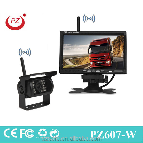 wireless back up truck camera with hot selling 7 inch display reverse camera 24V