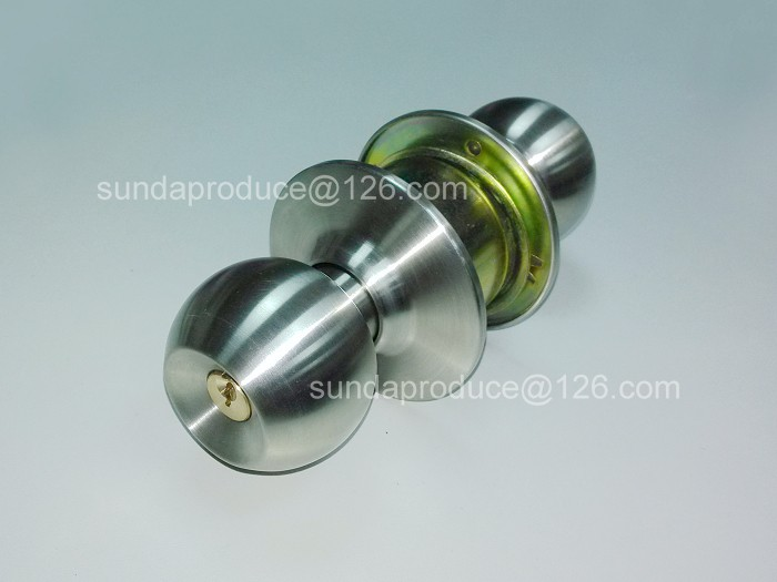 Stainless Steel Cylindrical Door Knob Lock for Wood Door