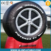 Advertising inflatable tire model with customized logo in low price