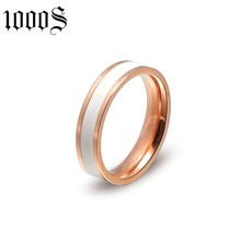 Wholesale Stainless Steel Mens Jewelry Rose Gold Plated Ring for Men