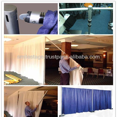 2013 RK telescopic pipe and drape kits for party/wedding tent