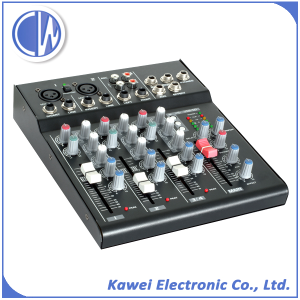 L6S Professional 6 channels audio mixer with delay effect