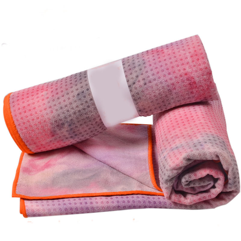 2016 Trendy Christmas Yoga towel Tie Dye Microfiber Yoga Mat Towel Ideal for Yoga and Pilate Outdoor Beach Towel