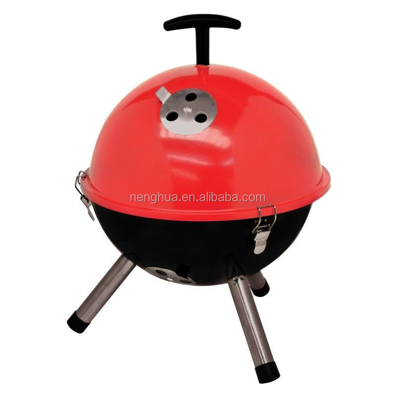 Colorful mini kettle barbeque grill, outdoor charcoal grill