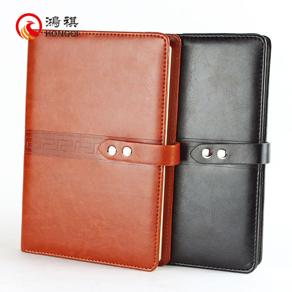 HQ004A Oem product book leather cover used notebook,recycled paper pu leather notebook