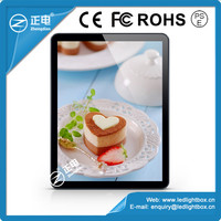 Best selling magnetic acrylic panel 3528 white color rounded corner advertising photo frame slim flash light box led