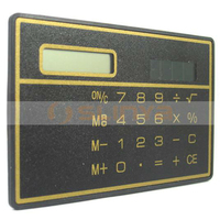 Solar Power Promotion Gift Thin Pocket 3mm Thickness Waterproof Pouch Bag Mini Card Calculator