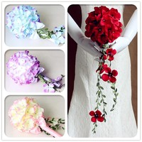 New arrival Beautiful fake flower wedding bouquet Customized artificial flower bouquet for bride bridesmaid hand flowers XF03