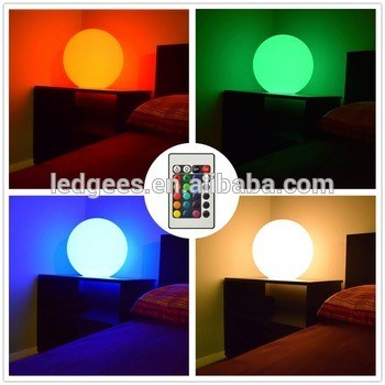 Rechargeable plastic ball home furniture light table lamp for Change furniture color
