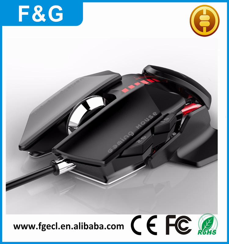 2017 new design 7d gaming mouse with adjustable dpi gamer mice pc