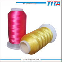 China wholesale polyester benang embroidery thread for machine