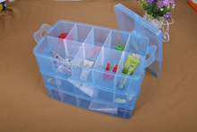Removable compartment makeup DIY home storage plastic box