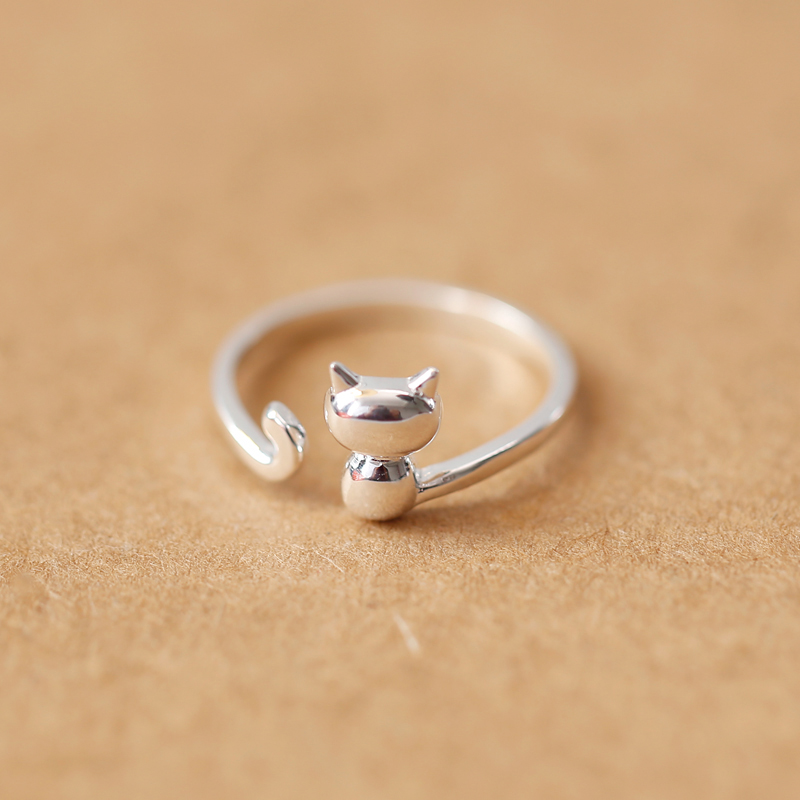 Smooth Matte Open Adjustable Size Cat Ring Online Jewelry Wholesale Rings For Women Girls