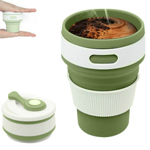 Free Sample Wholesale Custom Silicone Collapsable Ecoffee <strong>Cup</strong>