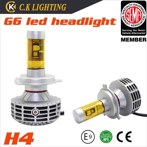 35W H7 hid xenon kit replacement 30W 3000lm G6 h7 led light headlight with five optional colors