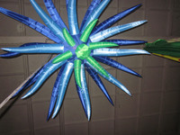 Customize party ceiling decoratin inflatable /falling star led christmas lights