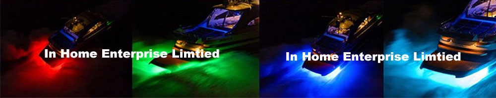 15W IP68 Led Boat Lights Blue Green Underwater Lights for Fishing Boat