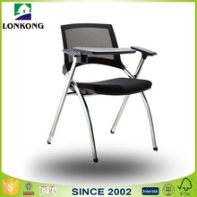 New Black Mini Iron Metal Modern Economic Folding Cheap Fabric Mesh Office Chair