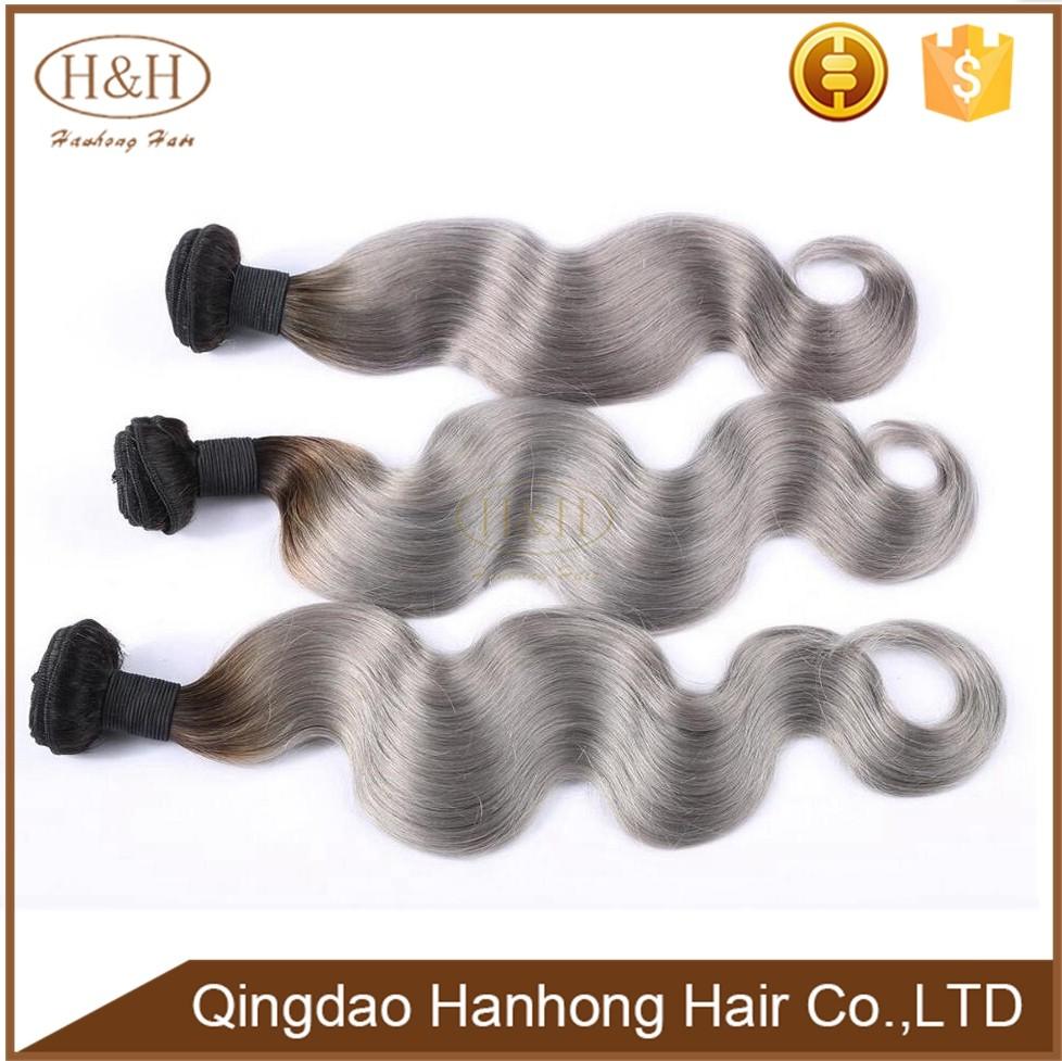 2017 novo produto No Atacado barato 100% cinza cabelo humano tecelagem brasileira para trançar frete grátis