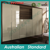 AIS-W115 Lacquer MDF high gloss Modern wardrobe with TV cabinet unit