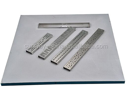 914*1219 shower base with Linear Drain-Fiberglass mesh+cement XPS tile backer board