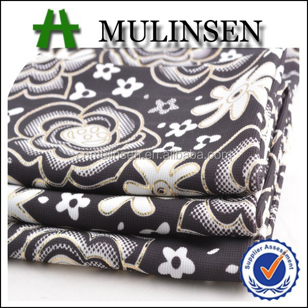 Mulinsen Textile Paper Print Ottoman Jersey Double Knitted Fabric In Vietnam