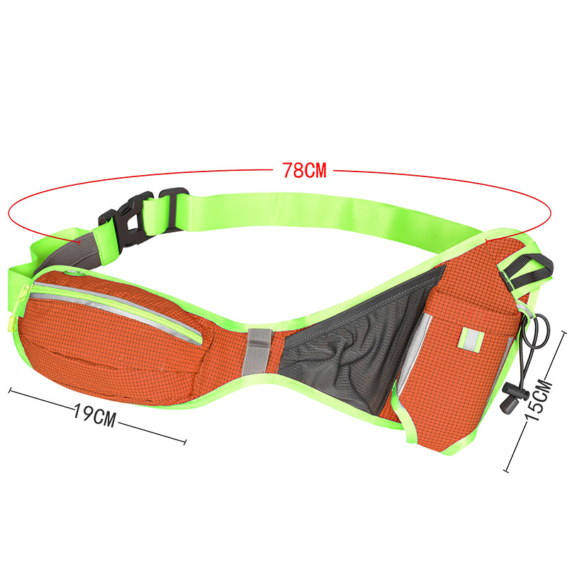 Amazon Hot sell Marathon waist bag with water bottle and reflective band