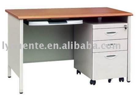 Modern office pedestal desk with foot