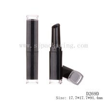 slim black lipstick tube add uv plastic container lip cream sample lipstick container