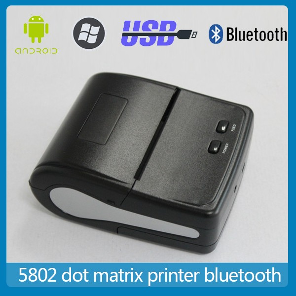 58mm Portable handheld printer bluetooth mobile dot matrix printer