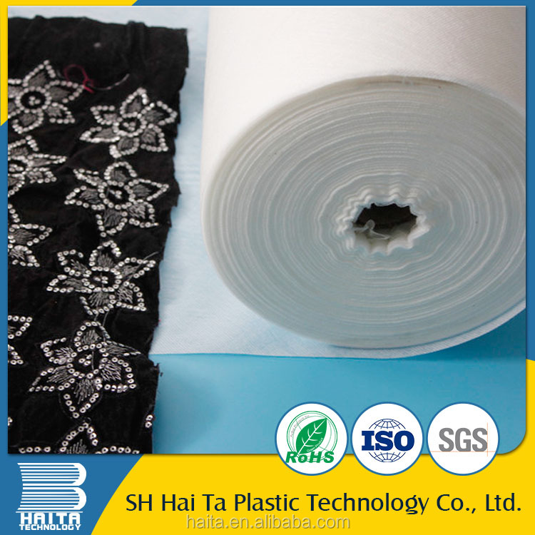New Technology water soluble white embroidery backing fabric