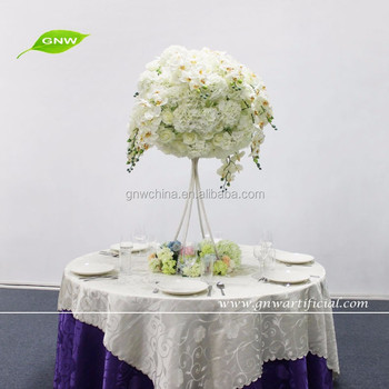 GNW CTR1512002 New hot Cheap Hydrangea orchid ball metal stand centerpieces for wedding table