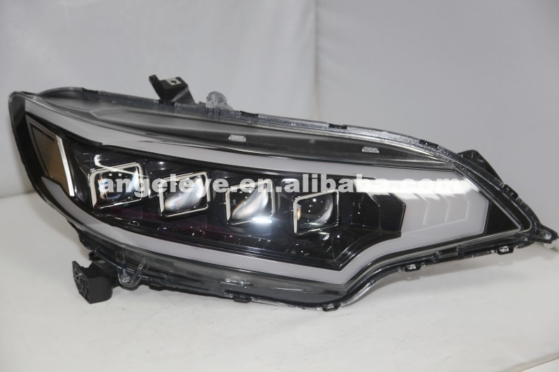 For HONDA Fit Jazz Headlight LED Head Lamp 2015 Year Black Housing