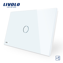 Livolo AU/US Standard Capacigive Touch lighting Control 1 Gang 2 Way Wall <strong>Switch</strong> VL-C901S-11