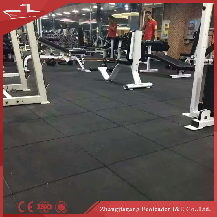Interlocking rubber tile for Gym Indoor small smell rubber brick EPDM rubber flooring mat
