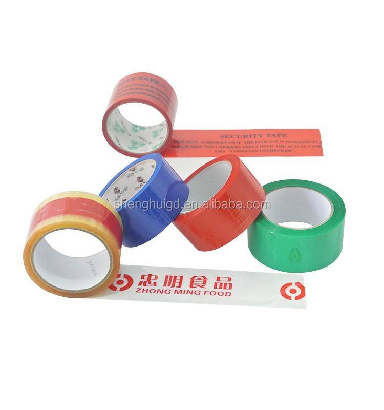 High Sticky Clear Custom Power Seal Yellowish Eco-Friendly Adhesive Transparent Tape